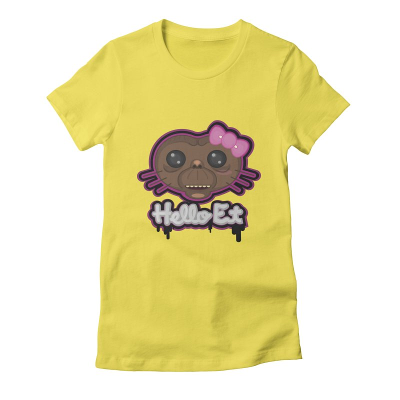 Hello E.T. Women's Fitted T-Shirt by moyart's Artist Shop
