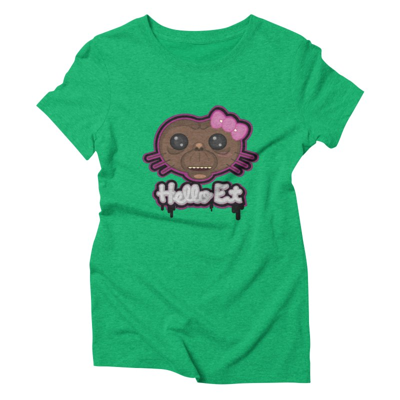 Hello E.T. Women's Triblend T-Shirt by moyart's Artist Shop
