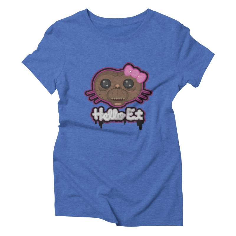 Hello E.T. Women's Triblend T-shirt by moyart's Artist Shop