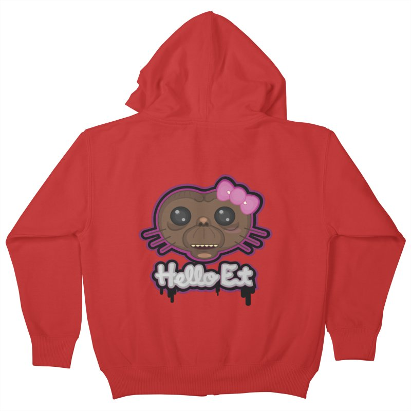 Hello E.T. Kids Zip-Up Hoody by moyart's Artist Shop