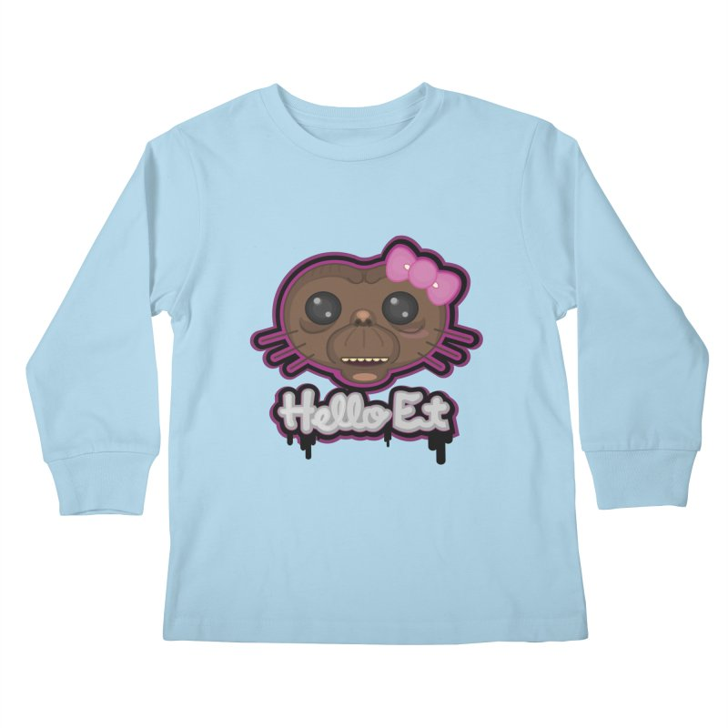 Hello E.T. Kids Longsleeve T-Shirt by moyart's Artist Shop