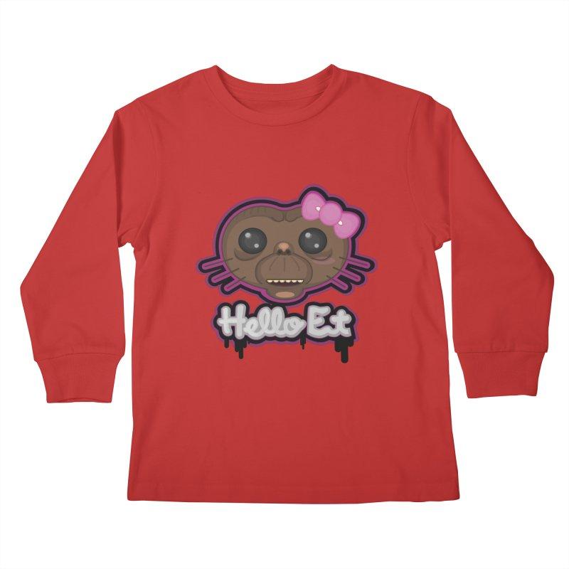 Hello E.T. Kids Longsleeve T-Shirt by moyart's Artist Shop
