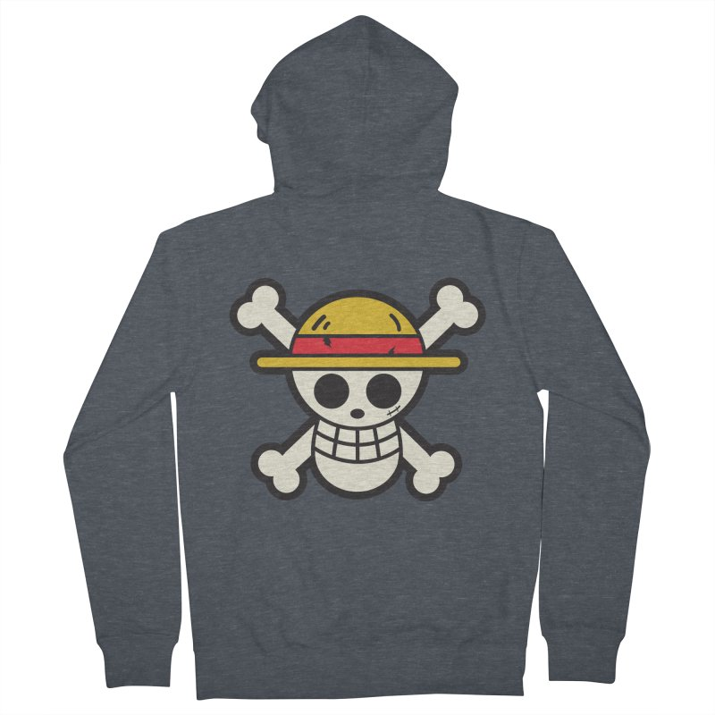 Strawhat Crew Men's French Terry Zip-Up Hoody by moyart's Artist Shop