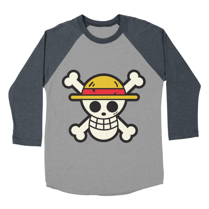 Strawhat Crew Men's Baseball Triblend Longsleeve T-Shirt by moyart's Artist Shop