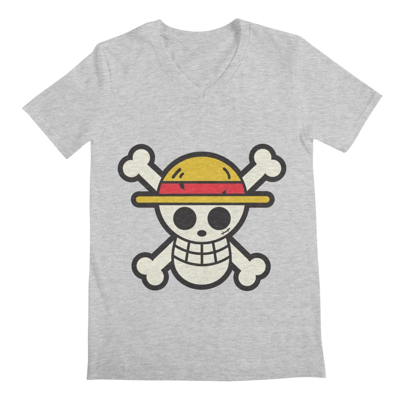 Strawhat Crew Men's Regular V-Neck by moyart's Artist Shop