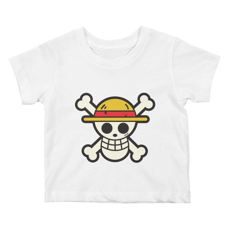 Strawhat Crew Kids Baby T-Shirt by moyart's Artist Shop