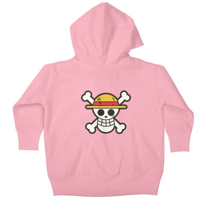 Strawhat Crew Kids Baby Zip-Up Hoody by moyart's Artist Shop