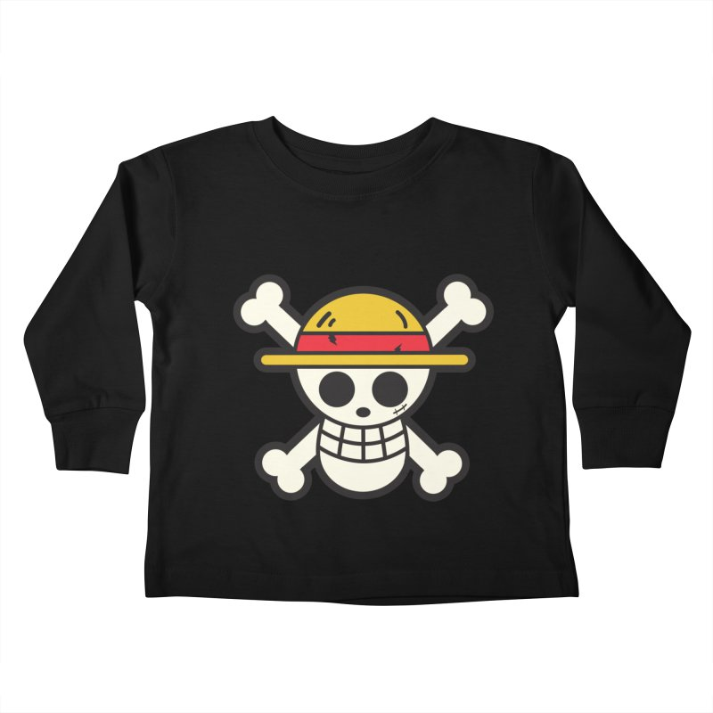 Strawhat Crew Kids Toddler Longsleeve T-Shirt by moyart's Artist Shop