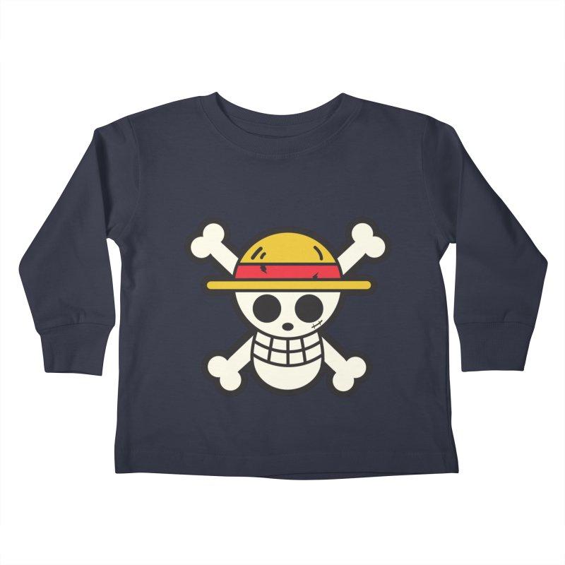 Strawhat Crew Kids Toddler Longsleeve T-Shirt by moyart's Artist Shop
