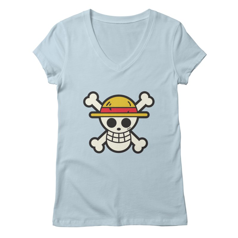 Strawhat Crew Women's Regular V-Neck by moyart's Artist Shop