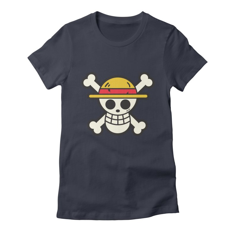 Strawhat Crew Women's Fitted T-Shirt by moyart's Artist Shop