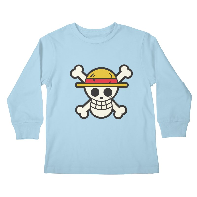 Strawhat Crew Kids Longsleeve T-Shirt by moyart's Artist Shop