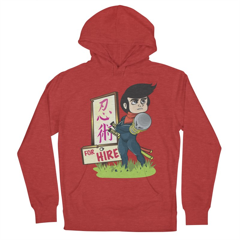 Ninja For Hire Women's French Terry Pullover Hoody by moyart's Artist Shop