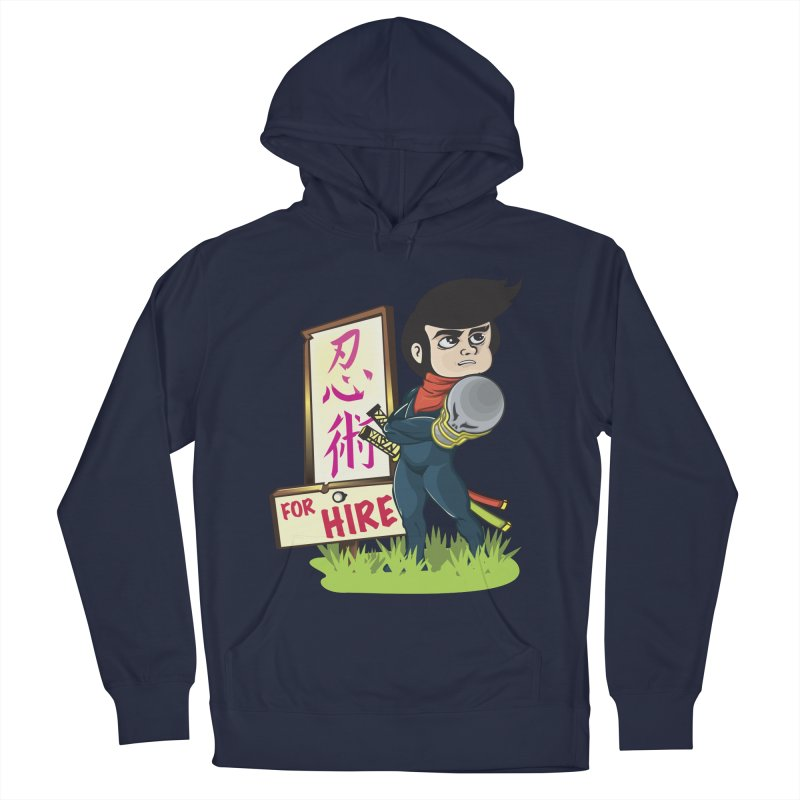 Ninja For Hire Men's French Terry Pullover Hoody by moyart's Artist Shop