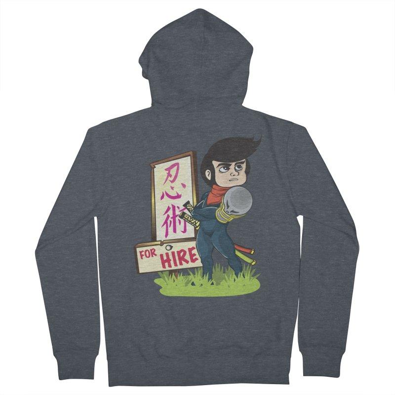 Ninja For Hire Men's Zip-Up Hoody by moyart's Artist Shop