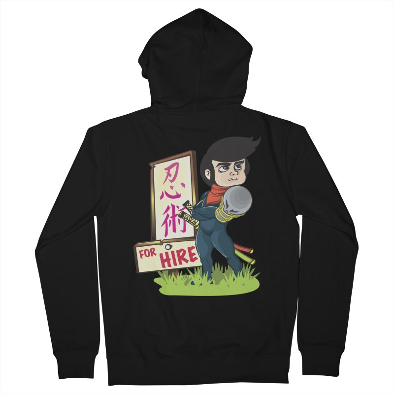 Ninja For Hire Men's Zip-Up Hoody by moyart's Artist Shop