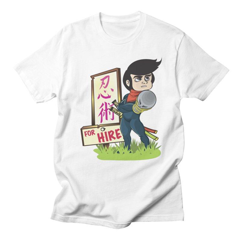 Ninja For Hire Men's Regular T-Shirt by moyart's Artist Shop