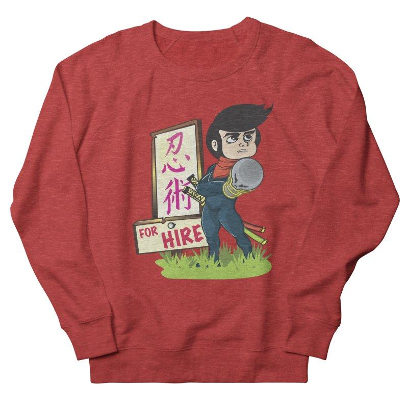 Ninja For Hire Women's French Terry Sweatshirt by moyart's Artist Shop