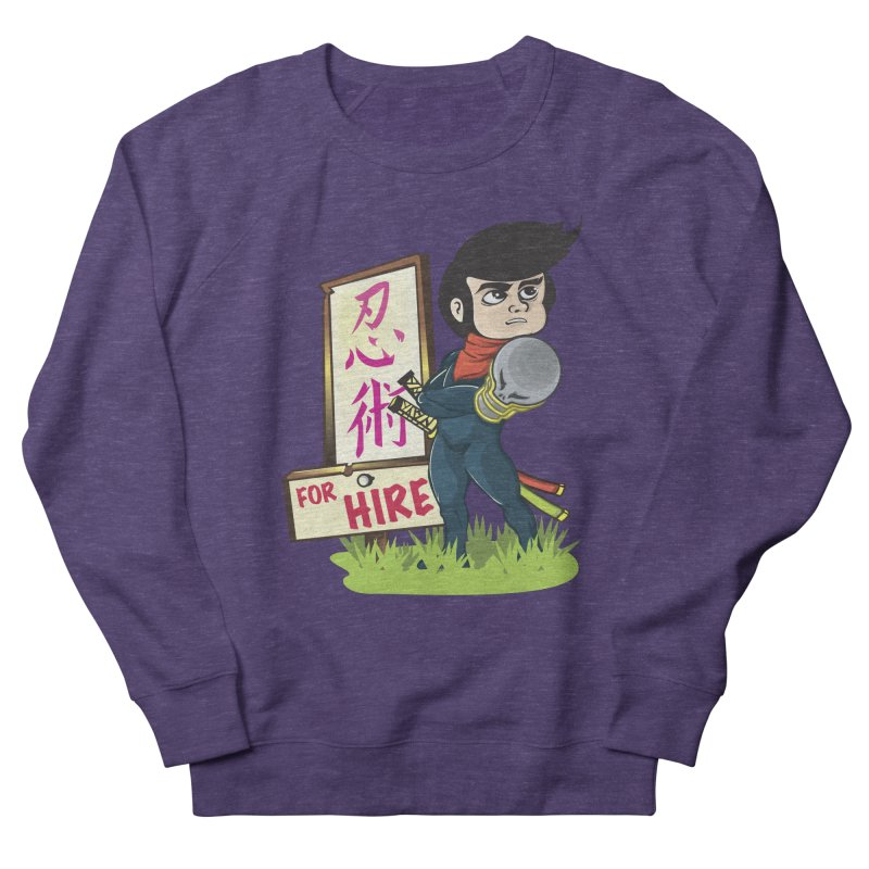 Ninja For Hire Men's French Terry Sweatshirt by moyart's Artist Shop