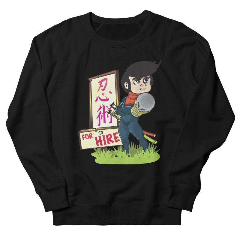 Ninja For Hire Men's French Terry Sweatshirt by moyart's Artist Shop