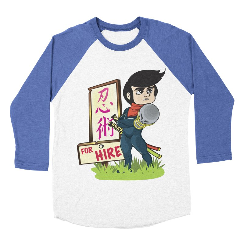 Ninja For Hire Women's Baseball Triblend Longsleeve T-Shirt by moyart's Artist Shop