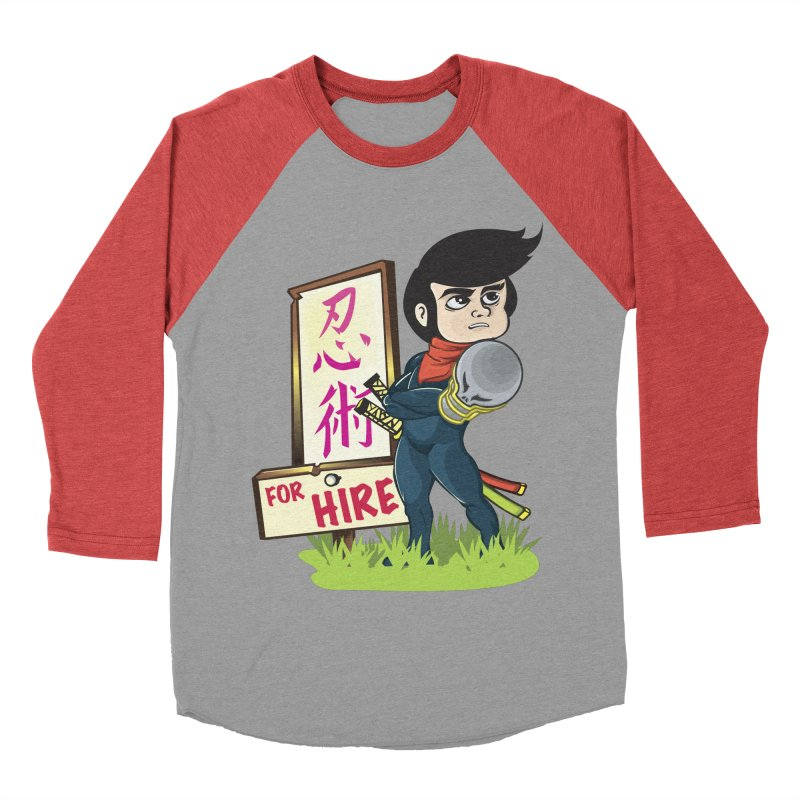 Ninja For Hire Men's Baseball Triblend Longsleeve T-Shirt by moyart's Artist Shop