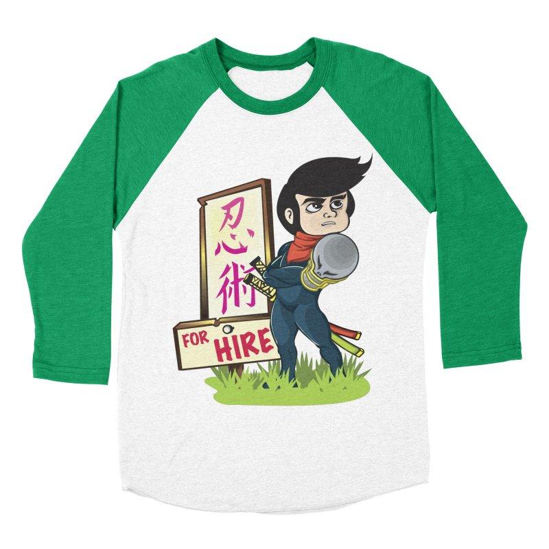 Ninja For Hire Men's Baseball Triblend Longsleeve T-Shirt by moyart's Artist Shop