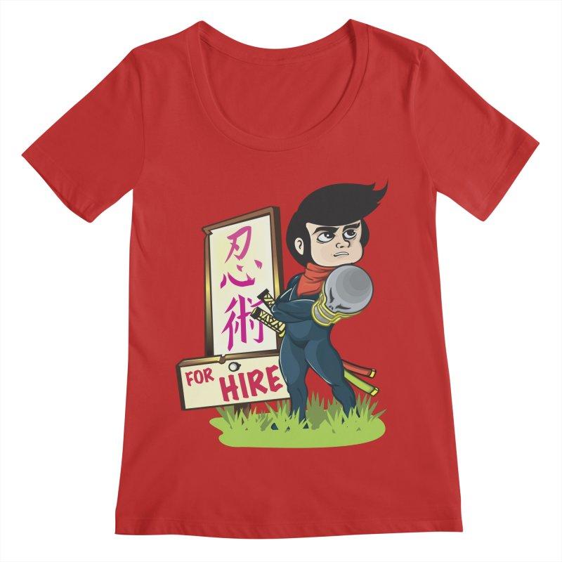 Ninja For Hire Women's Regular Scoop Neck by moyart's Artist Shop