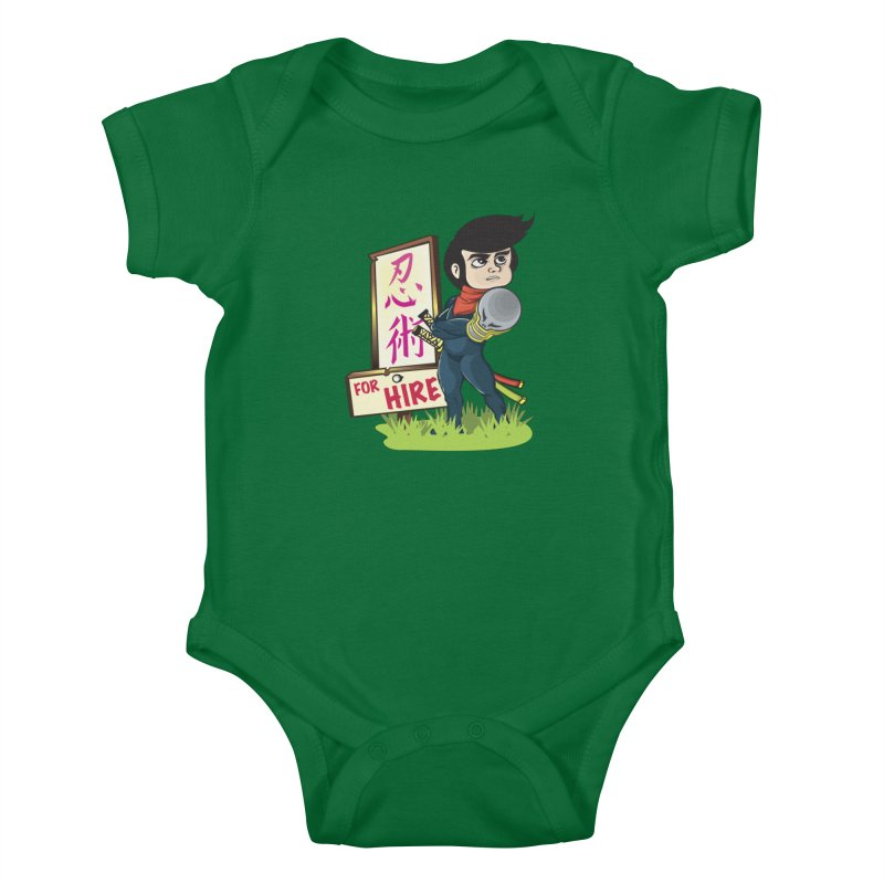 Ninja For Hire Kids Baby Bodysuit by moyart's Artist Shop
