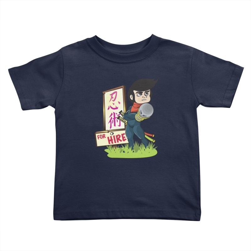Ninja For Hire Kids Toddler T-Shirt by moyart's Artist Shop