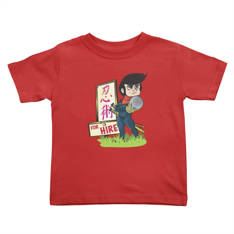 Ninja For Hire Kids Toddler T-Shirt by moyart's Artist Shop