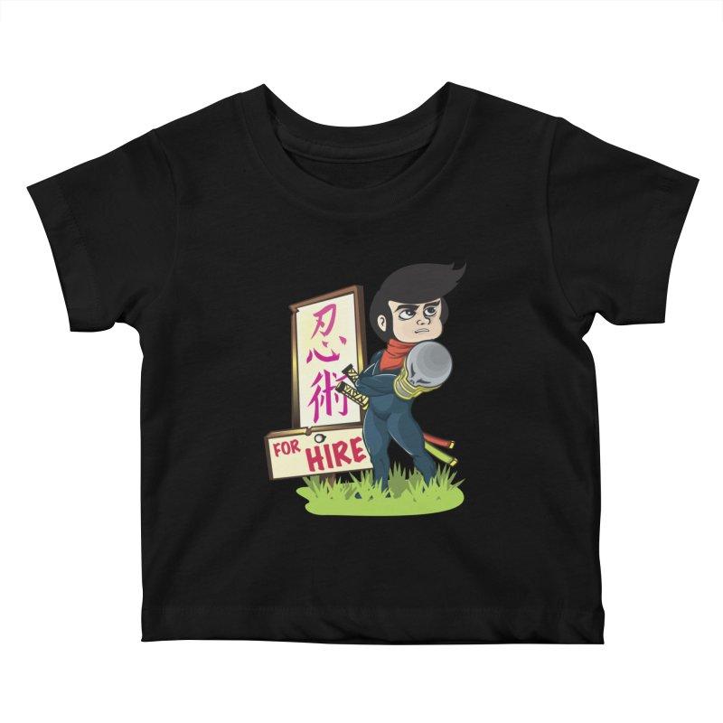 Ninja For Hire Kids Baby T-Shirt by moyart's Artist Shop