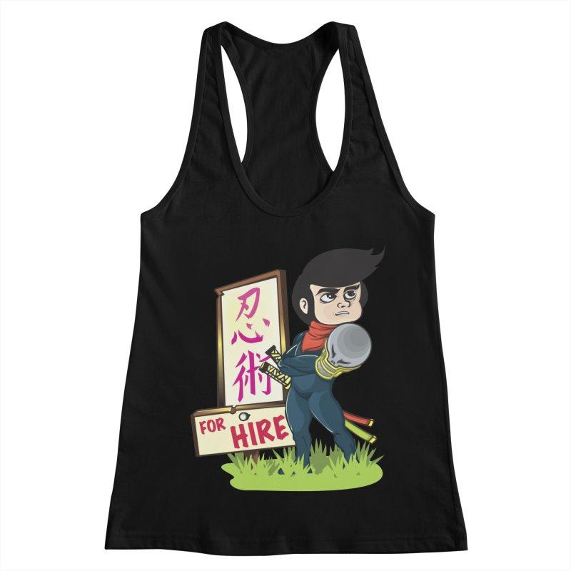 Ninja For Hire Women's Racerback Tank by moyart's Artist Shop