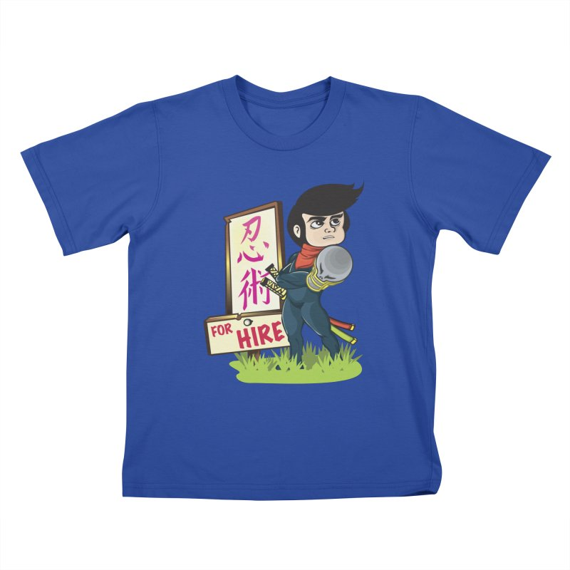 Ninja For Hire Kids T-Shirt by moyart's Artist Shop