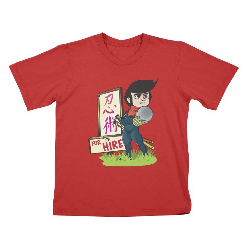 Ninja For Hire Kids T-Shirt by moyart's Artist Shop