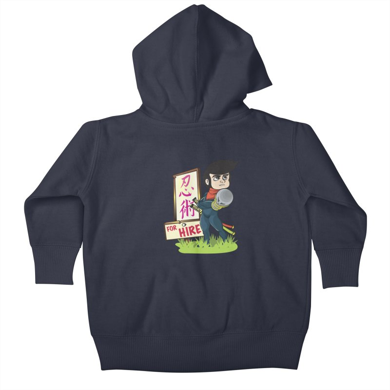 Ninja For Hire Kids Baby Zip-Up Hoody by moyart's Artist Shop