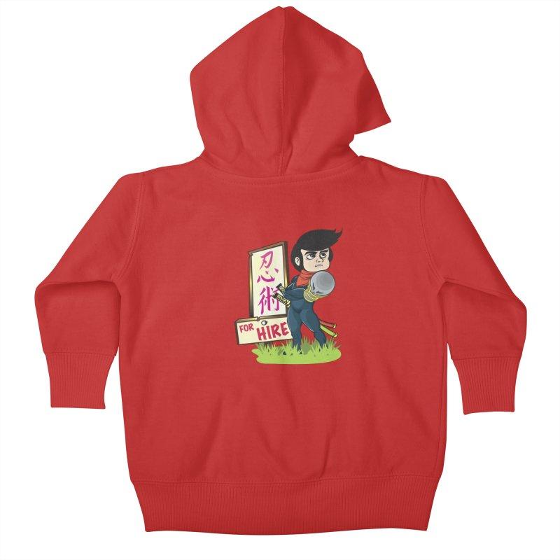 Ninja For Hire Kids Baby Zip-Up Hoody by moyart's Artist Shop