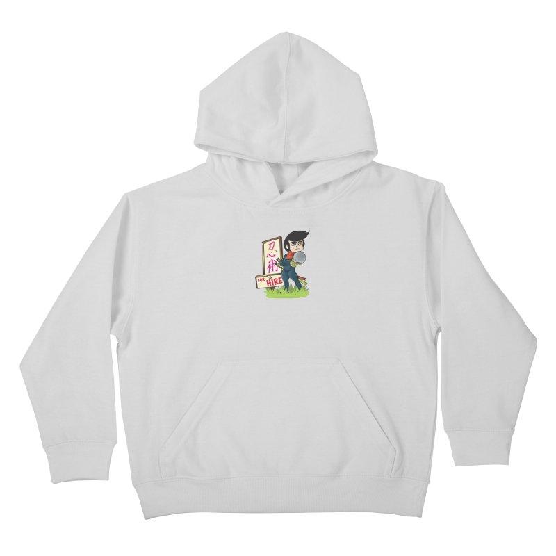 Ninja For Hire Kids Pullover Hoody by moyart's Artist Shop
