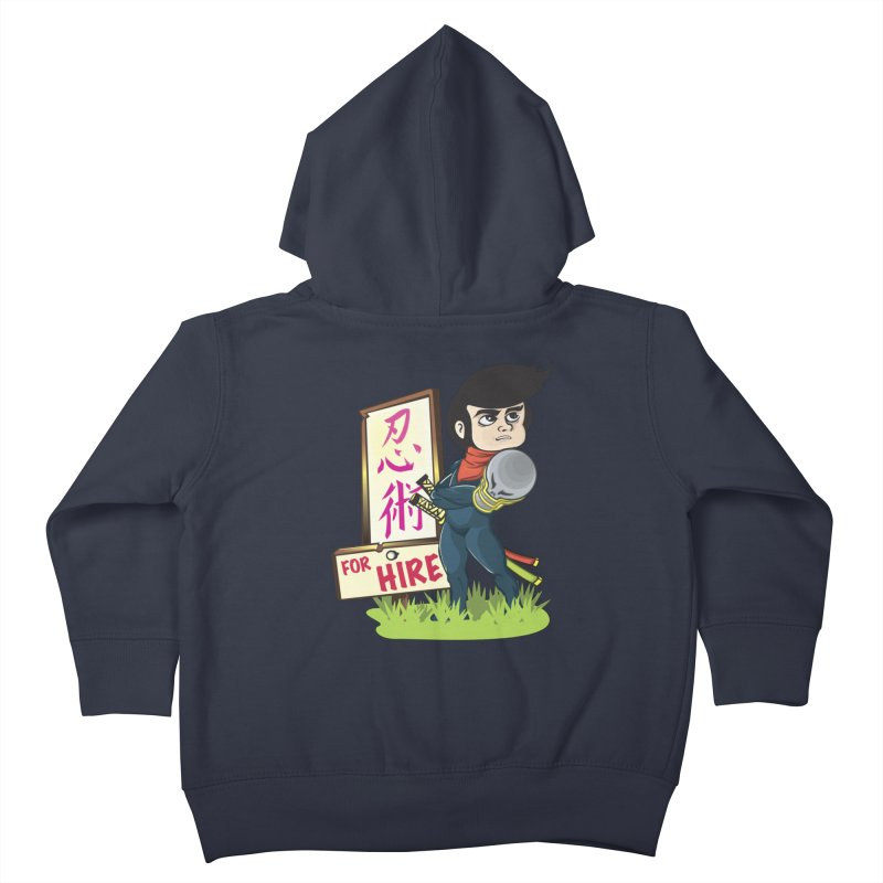 Ninja For Hire Kids Toddler Zip-Up Hoody by moyart's Artist Shop