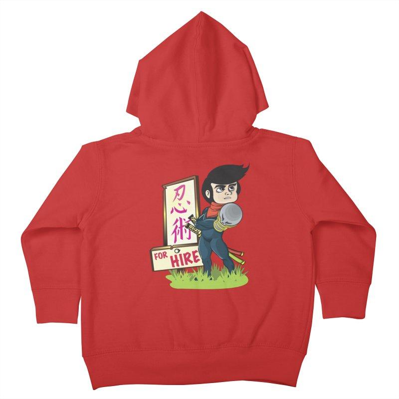 Ninja For Hire Kids Toddler Zip-Up Hoody by moyart's Artist Shop