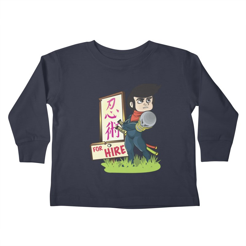 Ninja For Hire Kids Toddler Longsleeve T-Shirt by moyart's Artist Shop