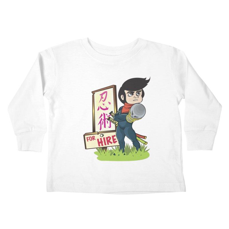Ninja For Hire Kids Toddler Longsleeve T-Shirt by moyart's Artist Shop
