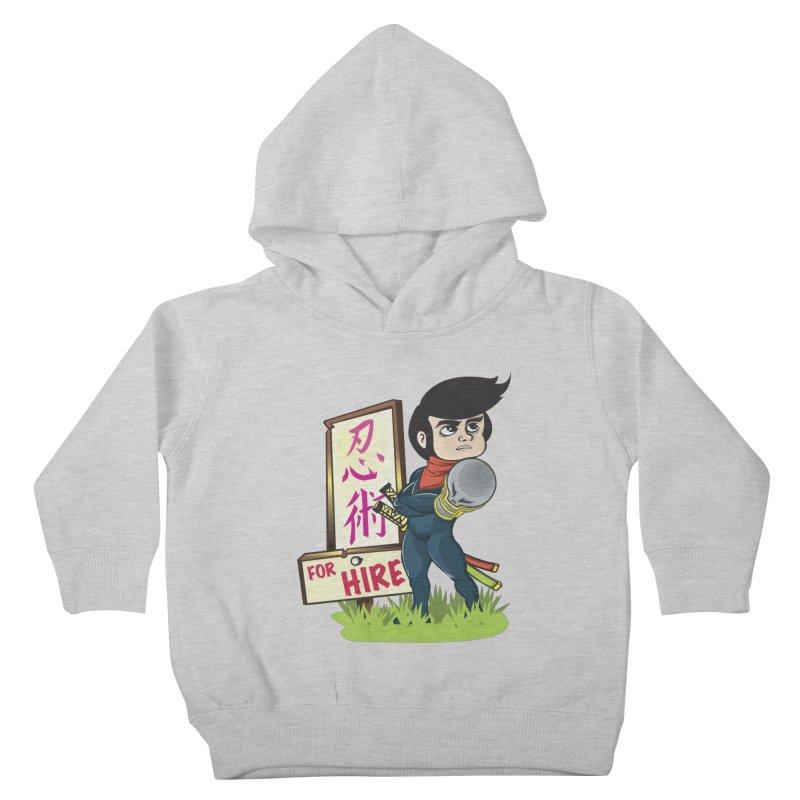 Ninja For Hire Kids Toddler Pullover Hoody by moyart's Artist Shop