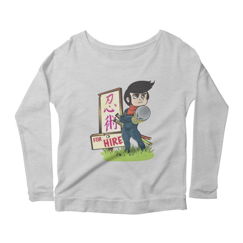 Ninja For Hire Women's Scoop Neck Longsleeve T-Shirt by moyart's Artist Shop