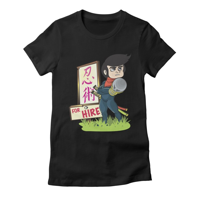 Ninja For Hire Women's Fitted T-Shirt by moyart's Artist Shop