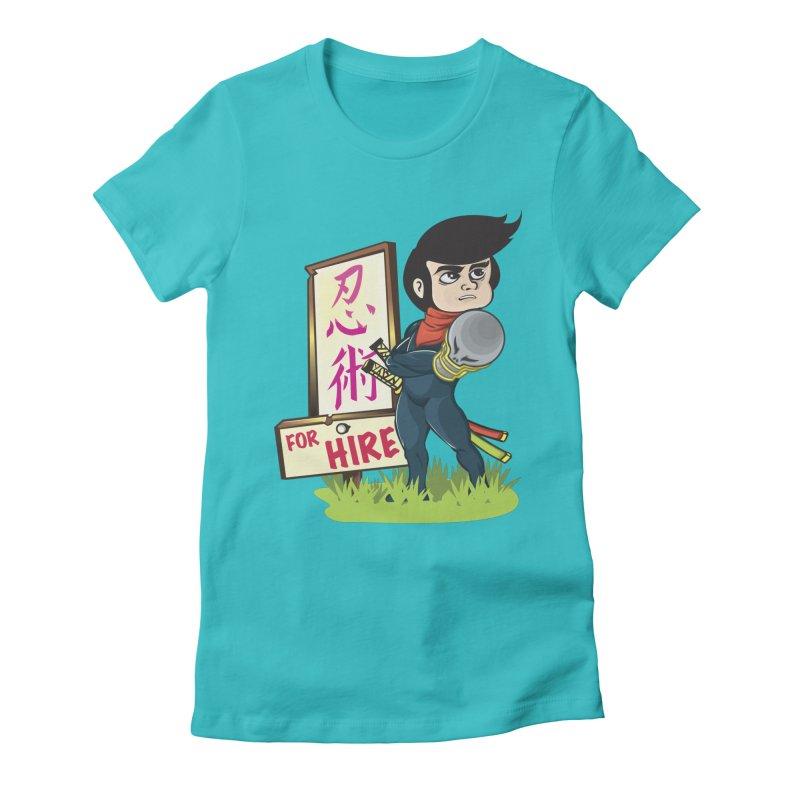 Ninja For Hire Women's Fitted T-Shirt by moyart's Artist Shop