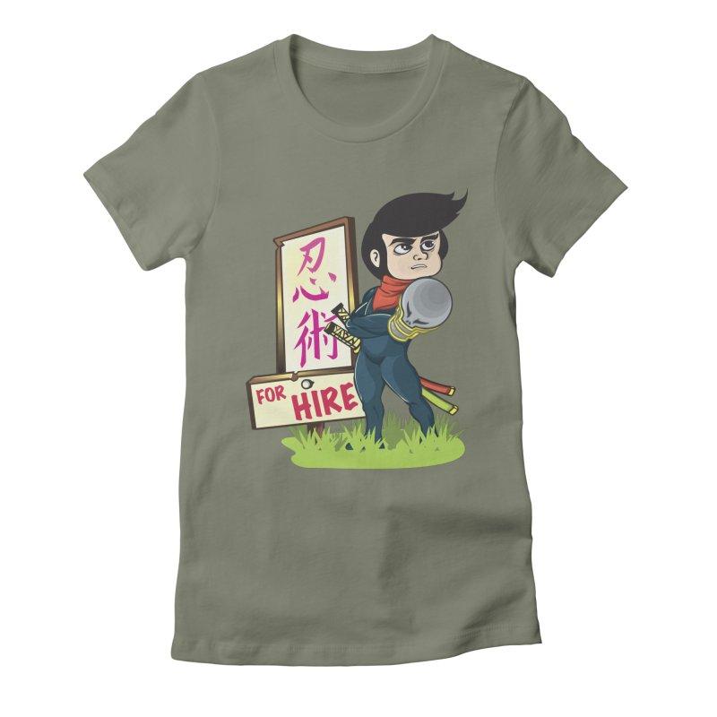 Ninja For Hire Women's T-Shirt by moyart's Artist Shop