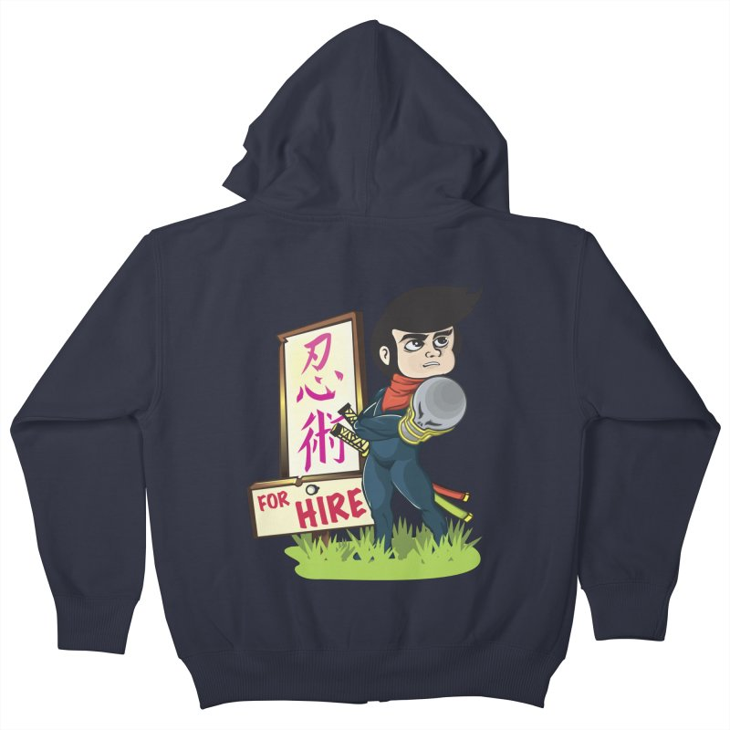 Ninja For Hire Kids Zip-Up Hoody by moyart's Artist Shop