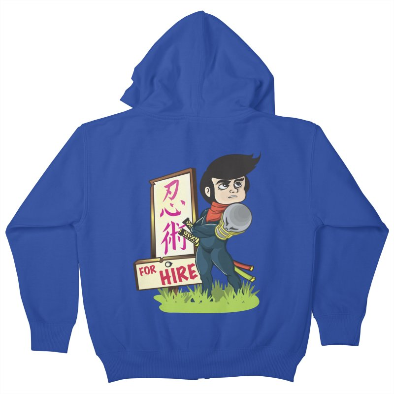 Ninja For Hire Kids Zip-Up Hoody by moyart's Artist Shop
