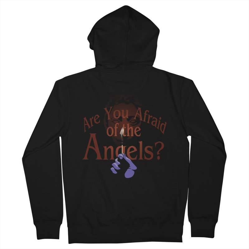 Are You Afraid of the Angels? Men's Zip-Up Hoody by Moysche's Shop